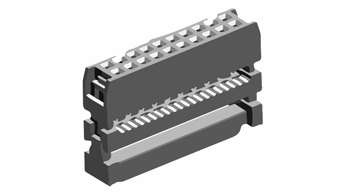 Picture of 2057 - CONNECTOR IDC FEM. P2,54MM