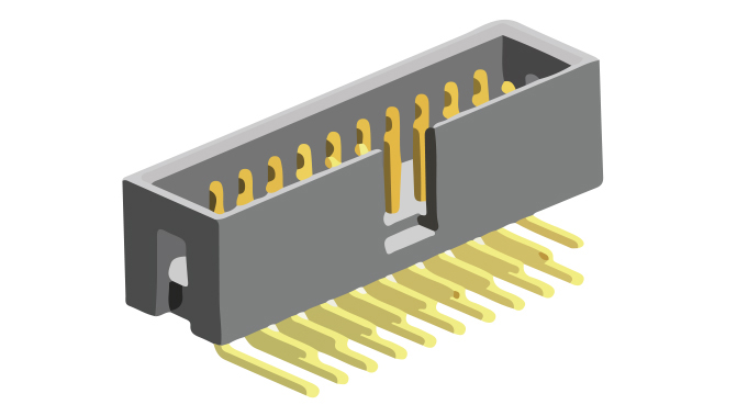 Picture of 2059 - CONNECTOR IDC M P2,54 R/A 90°