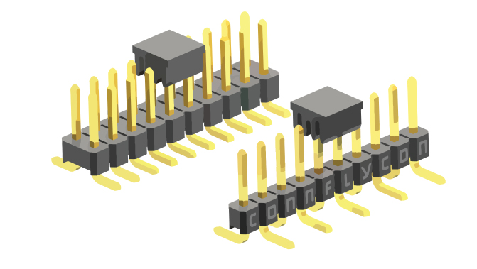Picture of 2085 - CONNECTOR STRIP P2,54MM SMD