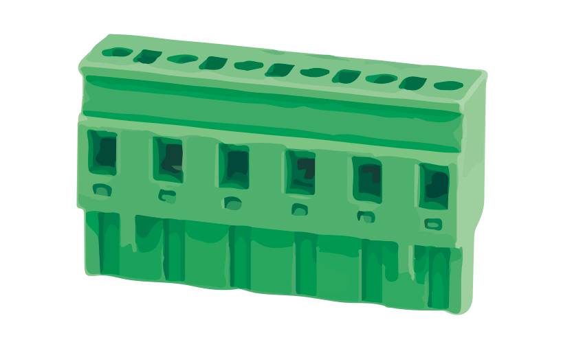 Picture of 8220 - TBLOCK PLUG FEM STRAIGHT P7,5