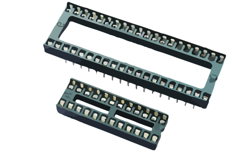 Immagine di 4610 - IC SOCKET DOUBLE CONTACT TH